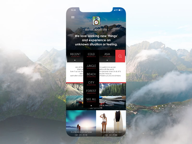 Adventure App iOS Design